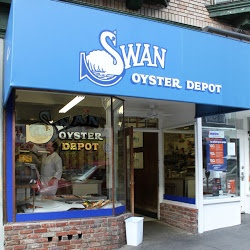 Swan Oyster Depot   Worth the wait in line outside...place is super small (we waited 40 minutes on a friday afternoon)  service is superb, friendly just like they've known you forever!