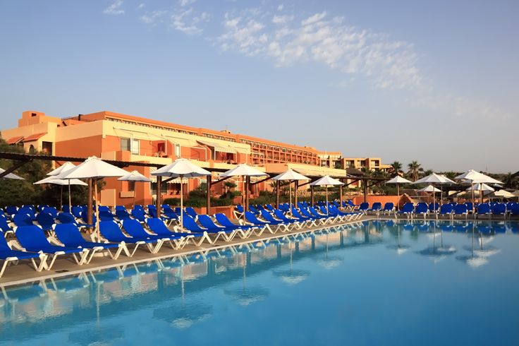 One of the 3 outdoor pools at the Ramla Bay Resort Malta