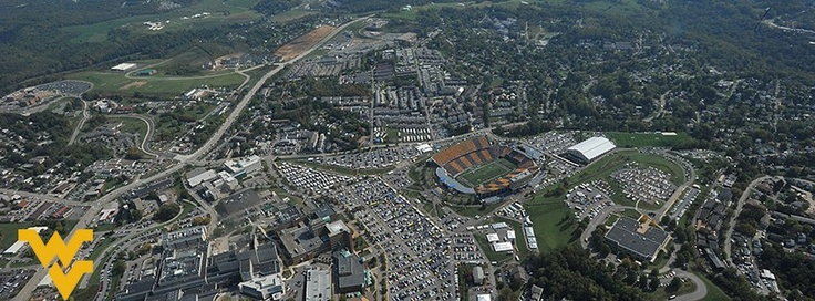 Aerial view of Stripe the Stadium at the Sept. 29 WVU