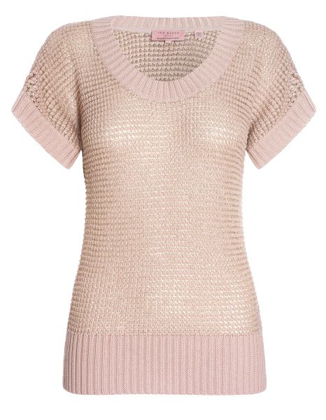 Ted Baker blush jumper - Soft and feminine, great with skinny jeans and bold accessories. #McArthurGlenStyle