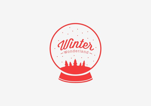 Christmas Carols | Logotype by ELLE POON, via Behance
