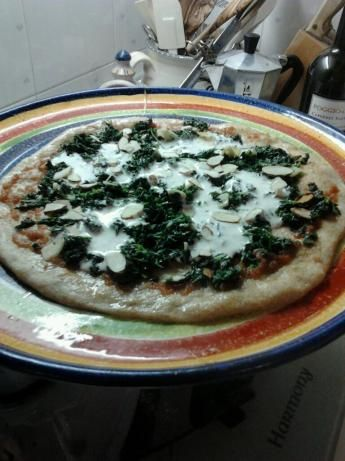 Pizza with wilted greens from the Digest Diet at food.com