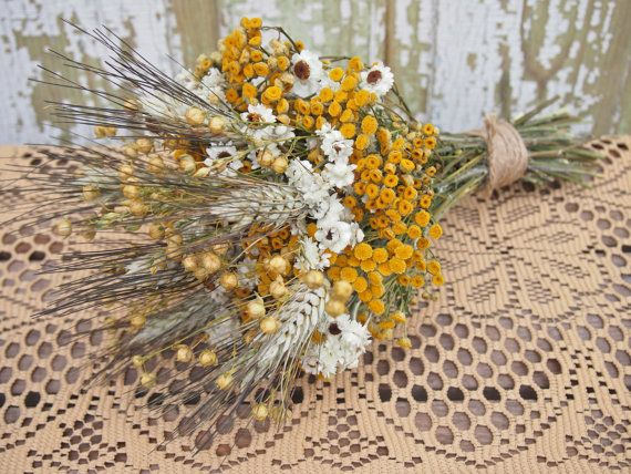 Hippie CHIC WEDDING Bouquet  Dried Flowers are by theflowerpatch, $18.00