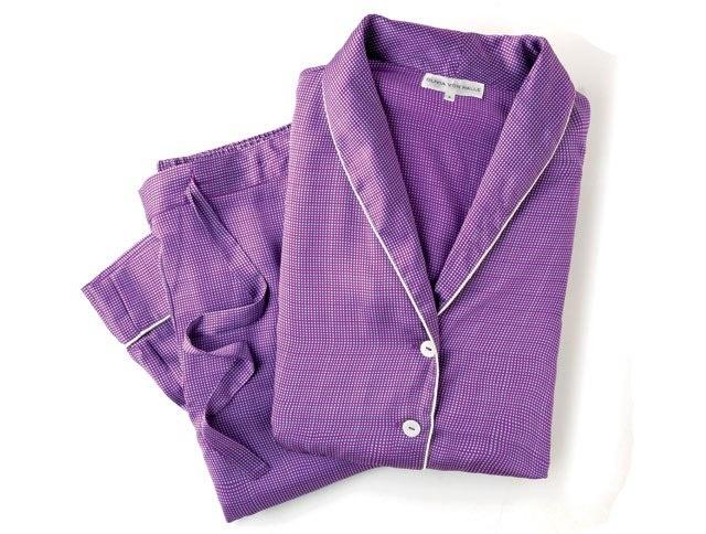 Olivia von Halle Namalee silk pajamas, $530. (oliviavonhalle.com): Photo