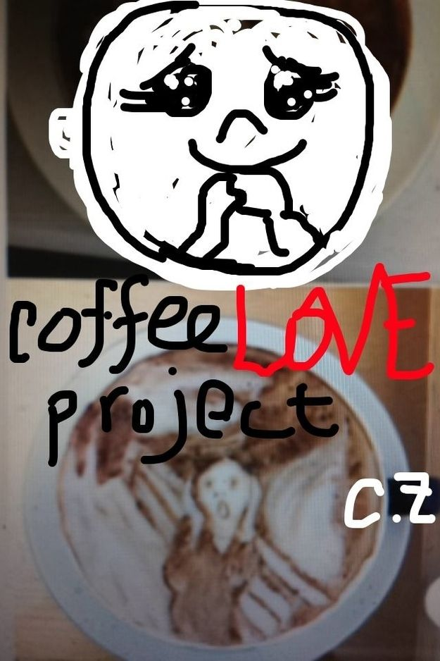 First up, What is #CoffeeLoveProject ? | 11 Extraordinary NYC Coffee Shops In Snapchat Drawings (Brought To You By Mustache Panda)