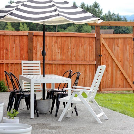 Make This Super Sturdy, Patio Umbrella Stand For Under $20!