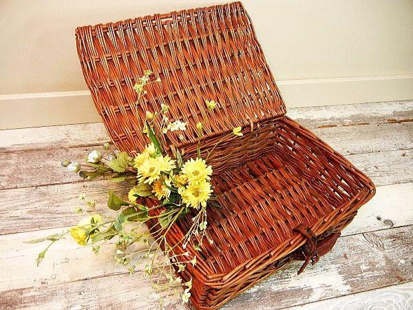 Pannier Basket 英国アンティークカントリーバスケットケースかご インテリア 雑貨 家具 Antique ¥7000yen 〆07月31日