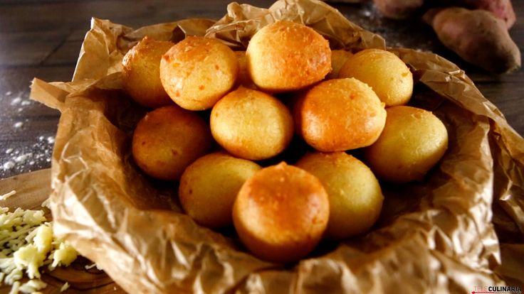Receita de Pão de queijo com batata-doce. Descubra como cozinhar Pão de queijo com batata-doce de maneira prática e deliciosa!