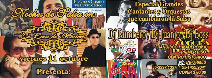 Noches de SalsaMexico en Casa Madero - 11 Octubre 2013