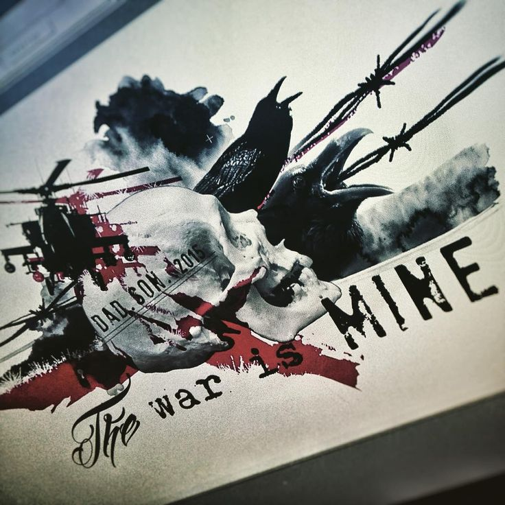 """The War Is Mine. Realistic Trash Polka coming. #ink #inked #tattoo…"