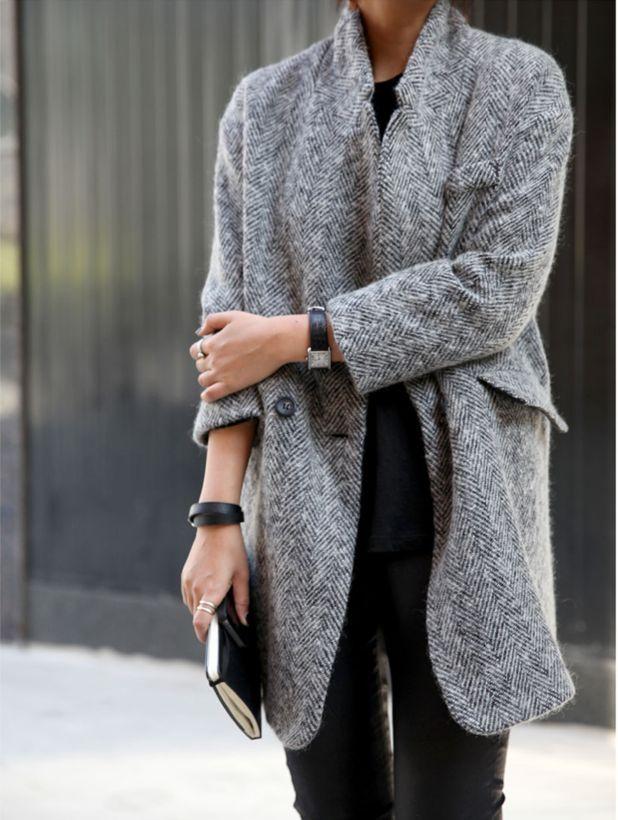 Grey coat #fallwinter