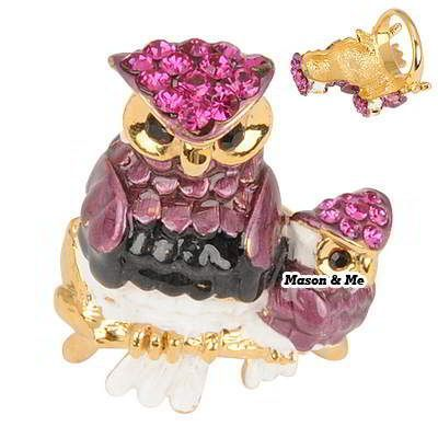 Korean Personality Exquisite Fashion Double OWL Charm Design Rings (Claret Red) General. Fashionable with passion REPIN if you like it.😊 Only 135.5 IDR