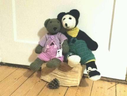 Elma&Emma Bär #Teddy #Häkeltier #handgemacht #gehäkelt