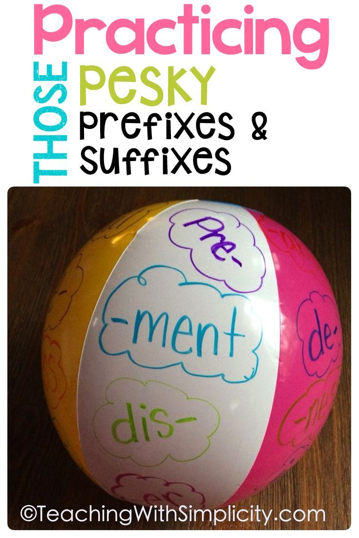 Practicing prefixes and suffixes.