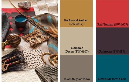 Sherwin williams rooted palette rockwood amber red - Sherwin williams foothills interior ...