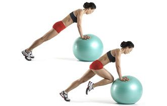 The Best Exercises You're NOT Doing! To achieve the best results, you need to challenge your body in new ways. Here are 13 moves you should try, including the stability ball mountain climber: Summer Shapeup, Abs Workout, Mountain Climbers, From Exercise, Weights Loss, Big Books, Woman Health, Exerci You R, Health Magazines