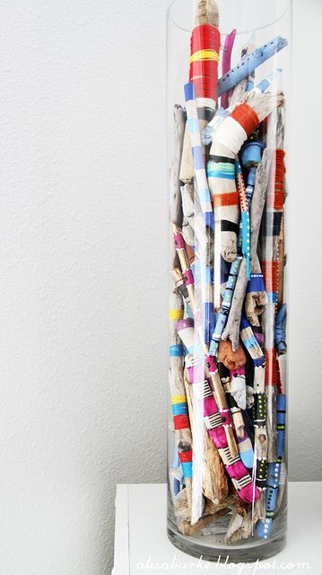 love these painted sticks by alisa burke. side note: someday i WILL go to one of her retreats.