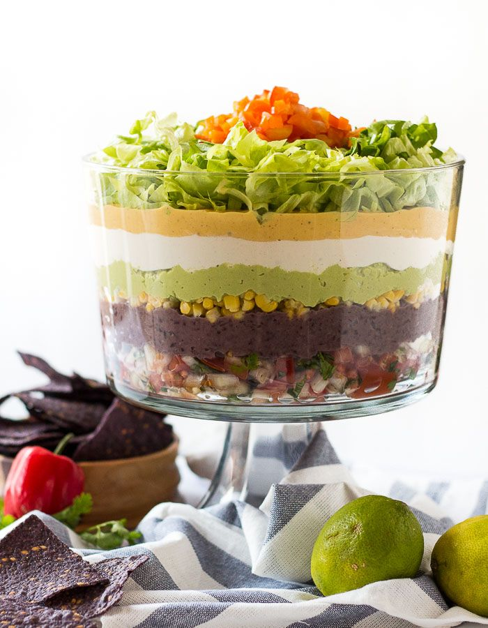It's finally time! Time for me to unleash this new, delicious, vegan, gluten-free recipe. I give you: Vegan 7-Layer Mexican Dip!!! Are you excited? I know I am – whoa!!! All the exclama…