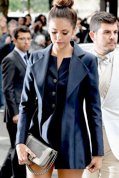 glitter-in-wonderland:   Nina Dobrev attends the Chanel show in Paris, July 08.  xx