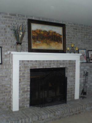 DIY Decor: Brick fireplace makeover | Fireplace Makeovers ...
