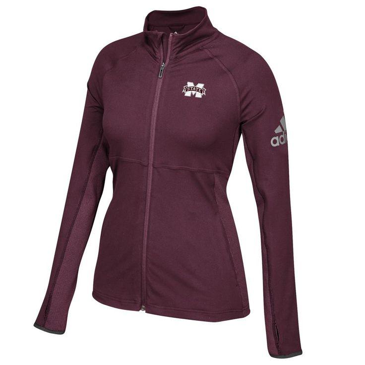 Mississippi State Bulldogs Adidas Ladies Full-Zip Performer Jacket