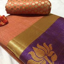 Tussar Silk Sares With Brocade Blouse | Buy Online tussar si...