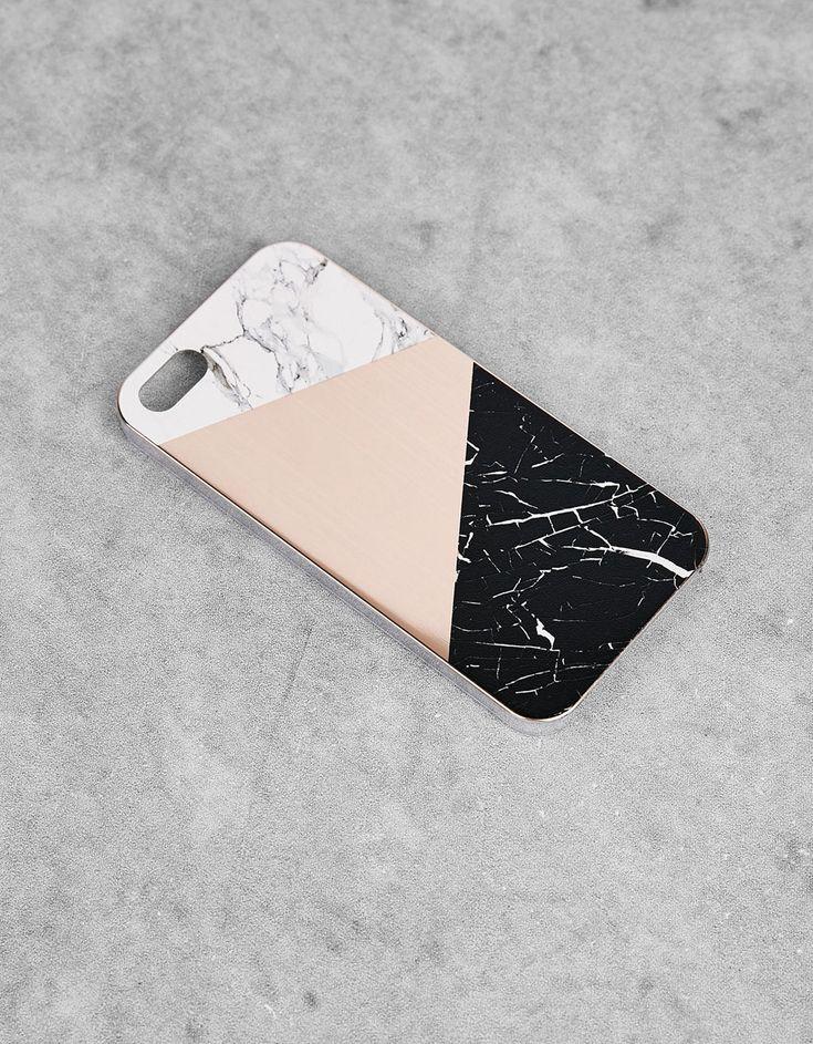 Carcasa mármol iPhone 5/5s/5se - Bershka. 4,99€