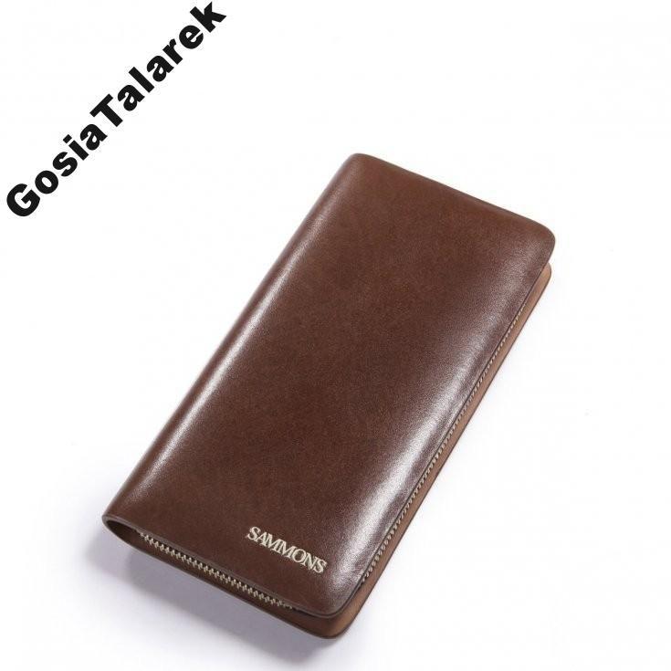 Klasyczny męski portfel skóra Sammons HIT