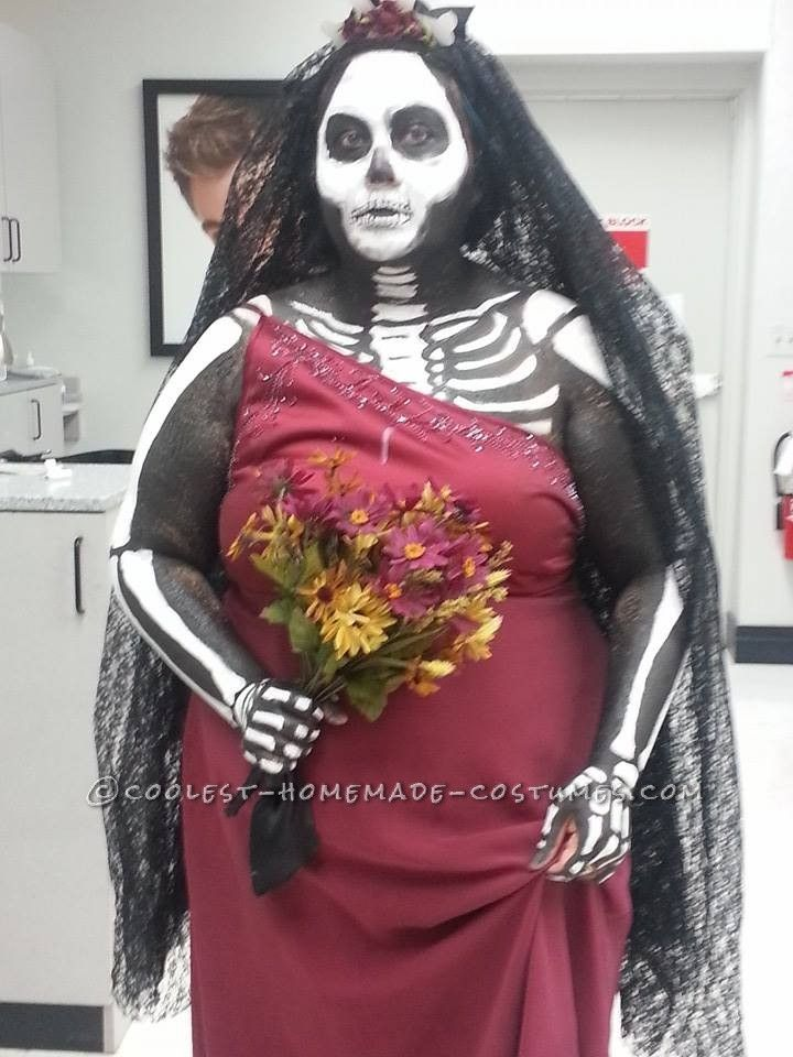awesome body paint skeleton bride costume - How To Make Homemade Costumes For Halloween