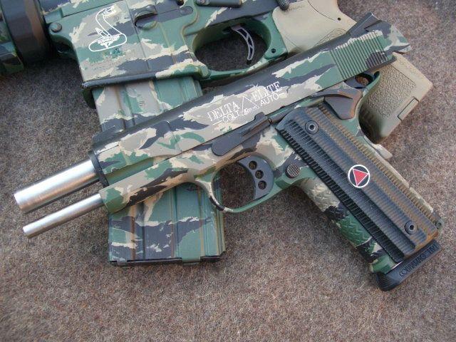 camo colt pistols | like 10mm especially Colt Deltas - 1911