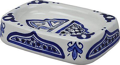 Fes Rectangular Multicoloured Ceramic Hand painted Moroccan Bathroom soap hold