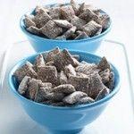 """""""Muddy Buddies"""" Chex mix w/ chocolate and peanut butter, yummmm!"""
