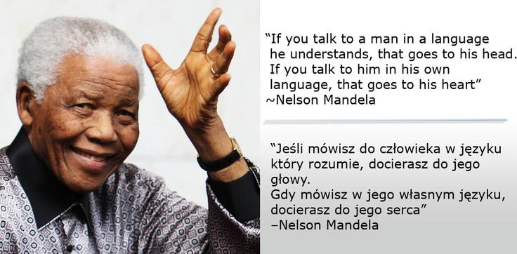 Po co uczyć się języka obcego? Powie Ci inspirujący Nelson Mandela...