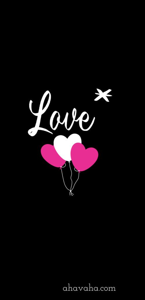 Love Hearts Star Pink White Themed Free Christian Wallpaper And Screensaver Mobile Phone Black Background 7