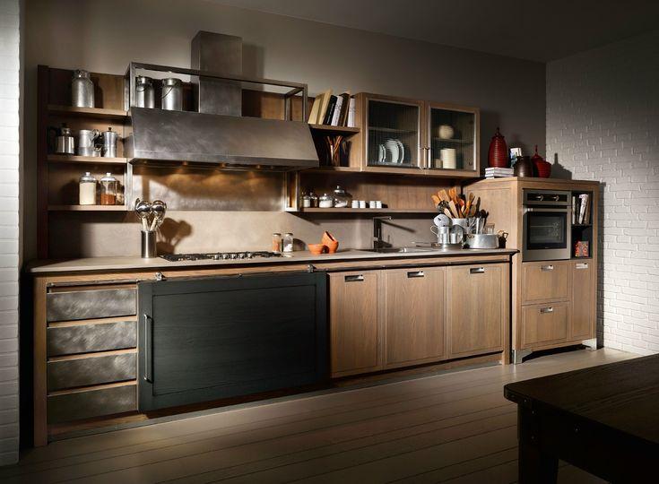 L'Ottocento porta lo stile post-industriale nell'Ambiente Cucina
