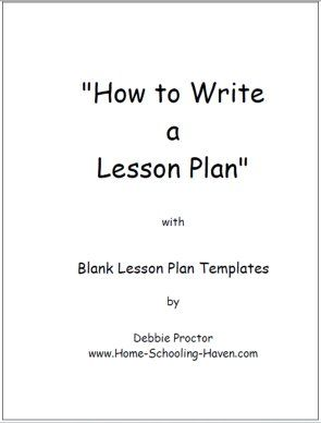 infant blank lesson plan sheets | Back from Blank Lesson Plan Template to Homeschool Lesson Plans