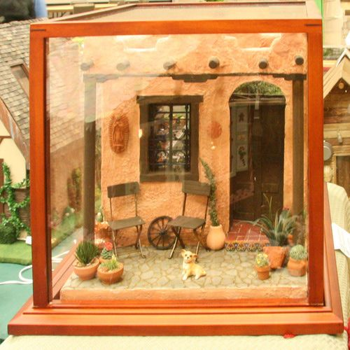Talented Miniaturists Exhibit at the Fall 2008 Seattle Show: Exterior of a 1:12 Scale Mexican Kitchen Scene by Angelika Oeckl