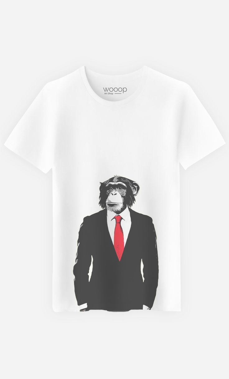 T-Shirt Homme Business Monkey by Nicklas Gustafsson | Art Shop | Wooop.fr