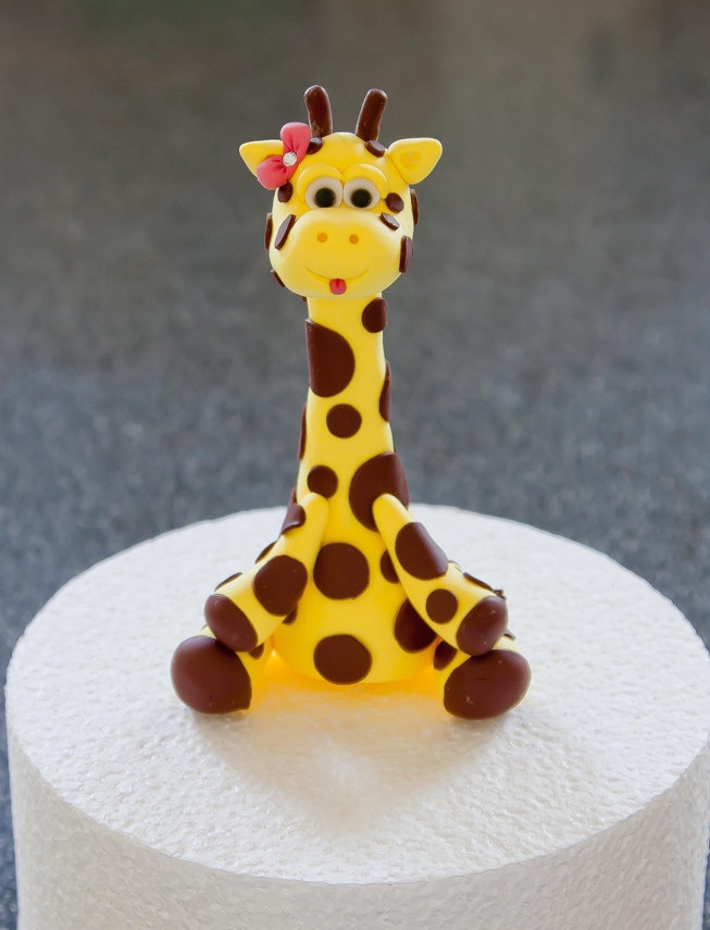 Little Giraffe Cake Topper by artsinhand on Etsy