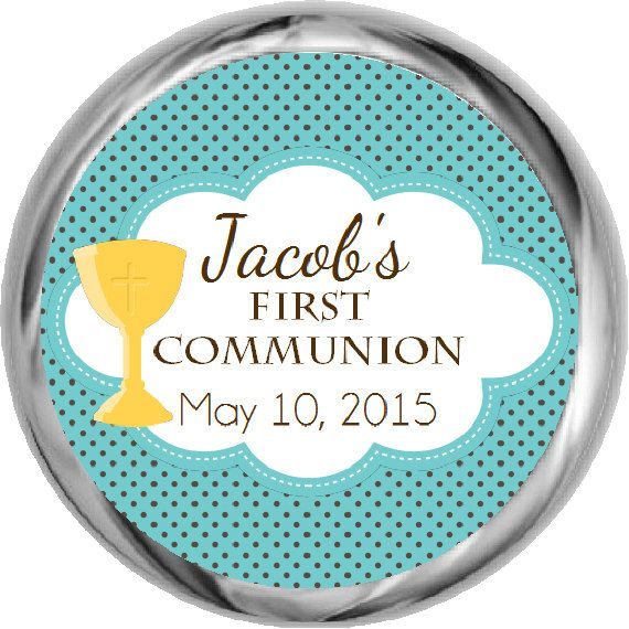Holy Communion Stickers  Boys First Communion by FabPartyPrints