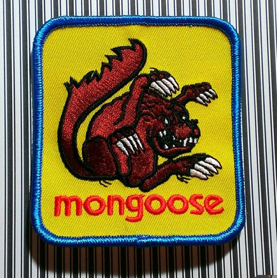 Vintage 1980's BMX Mongoose Embroidered by LostThenFoundPatches