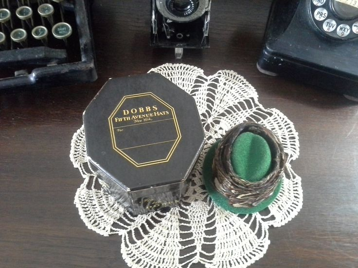 Salesman Sample Dobbs Hat Box Mini Hat Box Miniature Dobbs Hat Rare Feather Hat Band Vintage Advertising Box Collectible, FREE U.S. SHIPPING by FiresideInnAntiques on Etsy
