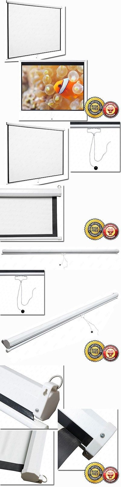 Projection Screens and Material: New 120 Portable Manual Projector Screen Pull Down Screen Home Movie Theater -> BUY IT NOW ONLY: $69.95 on eBay!