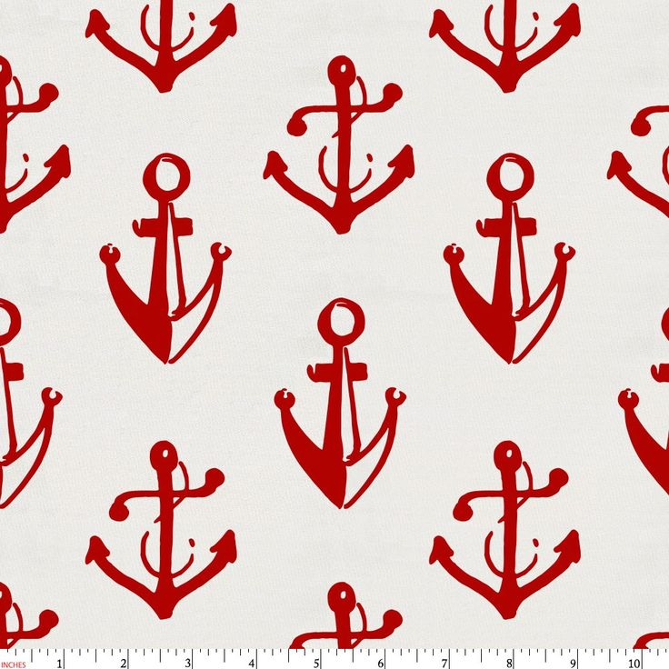 Red Anchors Fabric by Carousel Designs.