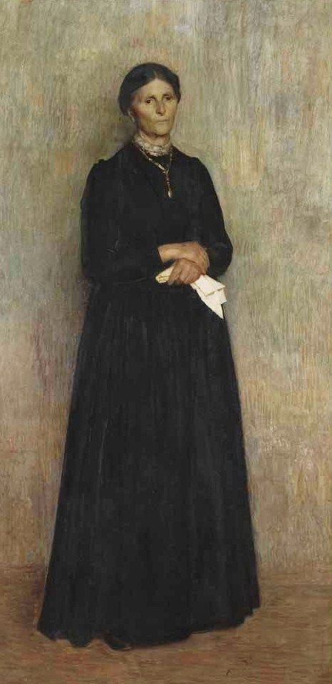 Giuseppe Pellizza da Volpedo (Italian artist, 1868-1907) My Mother 1890