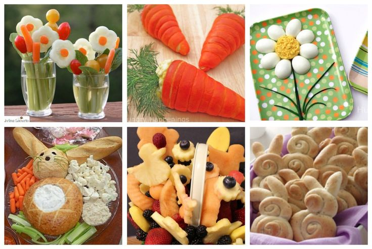 Easter/Spring Party food.  I like the bread bowl bunny dip!