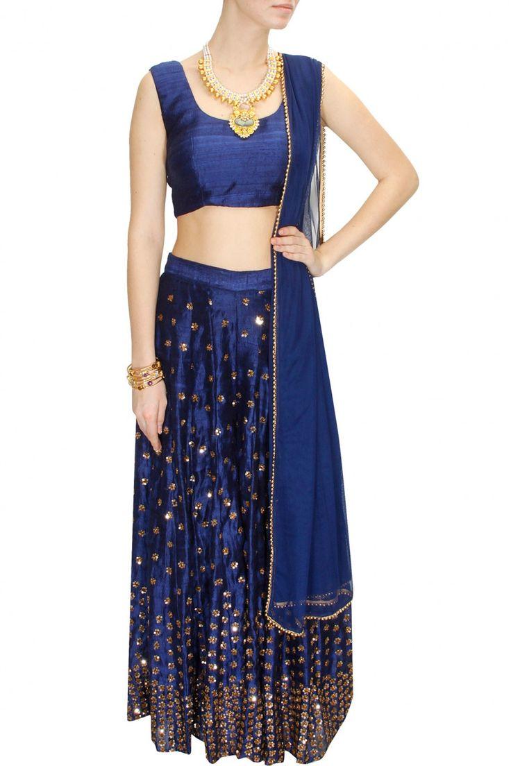 INTRODUCING : Navy blue sequins embellished sharara set by Astha Narang. Shop now at www.perniaspopups... #fashion #designer #krishnamehta #shopping #couture #shopnow #perniaspopupshop #happyshopping