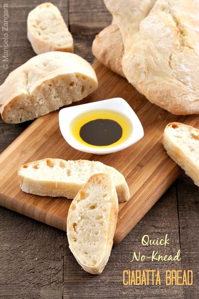 A #recipe for some amazing Quick No- Knead #Ciabatta #Bread, ready in under 2 hours!