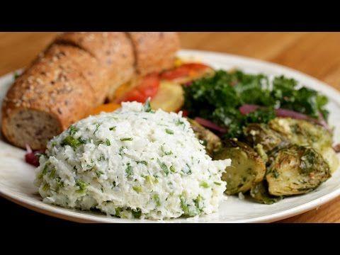 "Garlic & Herb Cauliflower Mashed ""Potatoes"" - YouTube"
