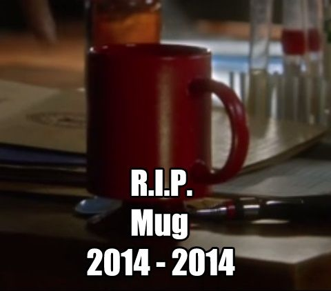 The most painful death on the show so far, Barry's coffee mug R.I.P.